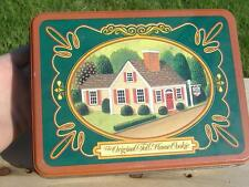 Classic ORIGINAL TOLL HOUSE COOKIE TIN CONTAINER Vintage Advertising Snack Box