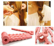 6Pcs Pink Soft Hair Curler Sponge Spiral Curls Roller DIY Salon Tool Fashion NEW