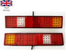 PAIR 24V 60 LED REAR TAIL LIGHTS TRAILER TRUCK FOR RENAULT DAF MAN SCANIA VOLVO