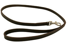 NEW HAND-CRAFTED BROWN LEATHER DOG LEASH LEAD TRAINING LONG STRONG CLIP RRP £19