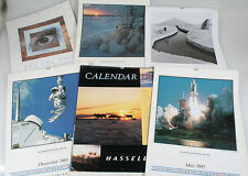HASSELBLAD CALENDARS, 1998, 85,86,92,95, SET OF 6,  APOLLO MOON LANDING   MORE