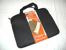 "NEW BLACK NEOPRENE PADDED LAPTOP NOTEBOOK NETBOOK BAG 12"" WIDTH PMS"