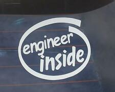 Engineer Inside Whtie Reflective Sticker Decal for Mistubishi Lancer Cedia