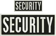 Security embroidery patch 4X10 and 2.x5 hook white border square