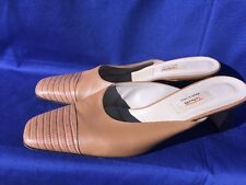 TALBOTS Alligator Crocs Wedges Pumps LEATHER Italy Womens High Heels Shoes Sz 8