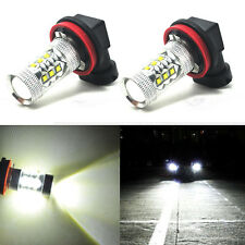 2x Fog Driving High Quality 80W 9005 HB3 6000K White DRL Lights LED Cree Project