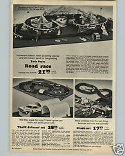 1965 PAPER AD Twin Peaks Toy Play Car Race Road Race Eaton's Crash Trik Trak