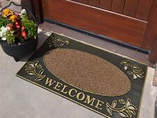 Non-Shedding Scraper Welcome Large Thick Front Step Door Mat Outside Rubber Mats