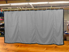 New!! Silver Curtain/Stage Backdrop/Partition, Non-FR, 9 H x 15 W