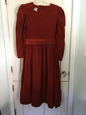 Laura Ashley Vintage Corduroy Rusty Red Size US 10