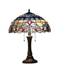 """CH33381VB16-TL2 Victorian Tiffany Style Stained Glass 2-Lt Table Lamp 16"""" Shade"""