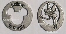 Disney 2 PIECES OF MAGIC TINKERBELL & MICKEY BELIEVE IN MAGIC CHARMS WDW Tokens