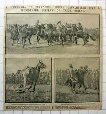 1915 Gymkhana In Flanders: Indian Cavalrymen Give Display Of Trick Riding