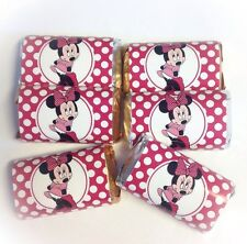 50 MINNIE MOUSE PINK MINI CANDY BAR WRAPPERS PARTY FAVORS