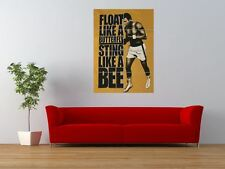 MUHAMMAD ALI FLOAT LIKE BUTTERFLY STING BEE GIANT ART PRINT PANEL POSTER NOR0642