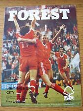 20/08/1980 Nottingham Forest v Birmingham City  (folded)