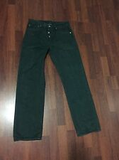 Levis 501 Button Fly Jeans 32x32 Rare Green Color