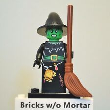 New Genuine LEGO Witch Minifig with Broom Halloween Series 2 8684