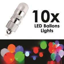 10pcs of LED Balloon Lights for Wedding Birthday Party Christmas Celebration UK