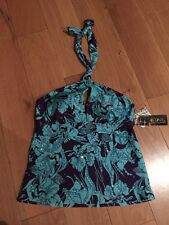 NEW DEBENHAMS JULIEN MACDONALD SIZE 12 TANKINI TOP BLUE