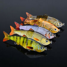 Fishing Fish Lures Baits Bass Crankbait Swimbait Jointed Pike Trout Tackle Hooks