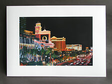 """Signed A3 art print of """"Las Vegas Strip"""" oil on canvas painting"""