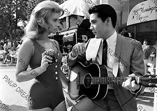 Vintage Wall Art Print of Ann Margret & Elvis Presley Movie Legends Re-print A4