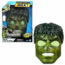 Marvel Avengers INCREDIBLE HULK LIGHT-UP MASK Halloween Costume Ages 5+ NEW!!