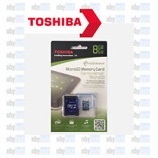 Toshiba 8GB Class 4 MicroSD SDHC Flash Memory Card + SD Adapter
