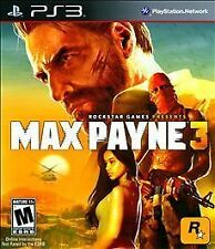 Max Payne 3 (Sony PlayStation 3, 2012) DISC IS MINT