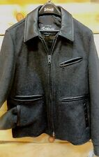 Schott NYC  Slim Fit Wool & Leather NEW  Jacket Size MED NWT Made IN Canada RARE