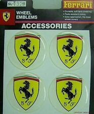 FERRARI 308 328 250 GTO 355 360 550 WHEEL RIMS CENTRE EMBLEM DECALS STICKERS