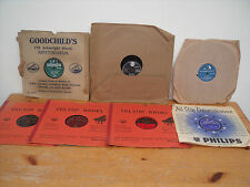 SELECTION OF SEVEN 78RPM RECORDS NOTTINGHAM SHOP SLEEVES