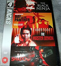 THE BLACK NINJA - DAY OF THE PANTHER - THE MASTER DEMON - RED SHADOW  New