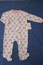 NEW Baby Girls Bodysuit 0 - 3 m Footed Sleeper Outfit PJs White Pink Purple Owls