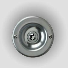 Klingeltaster DÜWI 04484 Metall rund silber Kontaktplatte Taster Klingelknopf