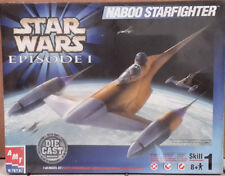 2005 STAR WARS Ep 1 Naboo Starfighter Model Kit-MPC-FREE S&H (SWMO-30130)
