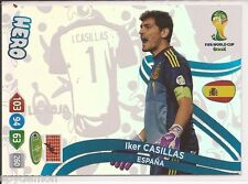 update wc adrenalyn xl 2014 HERO CASILLAS SPAIN ESPAÑA panini  mundial 2014