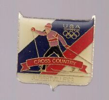 1992 Albertville Cross Country Skiing Olympic Pin USA USOC