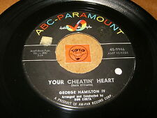 GEORGE HAMILTON IV - YOUR CHEATIN HEART - WHEN WILL I - LISTEN - ROCK N ROLL