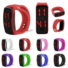 Mens Womens Striking Silicone LED Sport Bracelet Touch Digital Wrist Watch Gift
