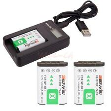 Lot2 NP-BX1 1450mAh Replacement Li-ion Battery with LCD Charger for Sony CA