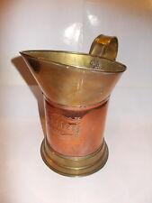Vintage messing en rood koper kruik 1 liter - mooie gravure