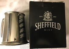 Sheffield England Pewter Bright Tankard Glass Bottom Mug Stein Metal Cup NIB