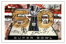 DENVER BRONCOS TEAM SUPERBOWL 50 L MULTI SIGNED PHOTO PRINT NFL FOOTBALL
