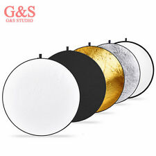 "New 32""/80cm 5-in-1 Photo Studio Multi-Disc Collapsible Light Reflector"