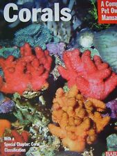 new CORAL BOOK MARINE AQUARIUM FISH caring for corals PET OWNERS  MANUAL CORALS