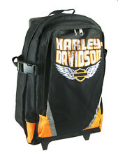 Harley Davidson Nylon Rolling Backpack Book Bag