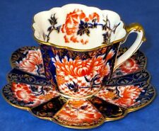 Wileman Foley (pre-Shelley) Antique Stunning Imari Cup & Saucer 1894-1910