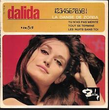 EP 4 TITRES--DALIDA--LA DANSE DE ZORBA / TU N'AS PAS MERITE